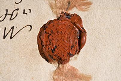 Lo splendido sigillo del Cardinale Richelieu in una lettera indirizzata alla Città di Savigliano e datata 25 gennaio 1640