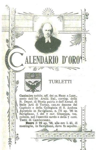 Manifesto funebre di Casimiro Turletti