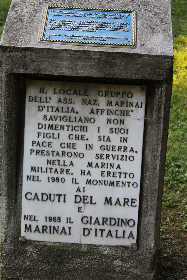 Incisione in ricordo dei caduti della Marina Militare