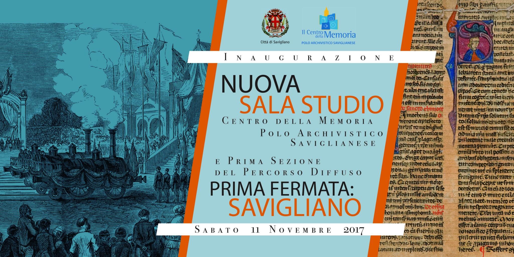 SABATO 11 NOVEMBRE - NUOVA SALA STUDIO E PERCORSO DIFFUSO-1