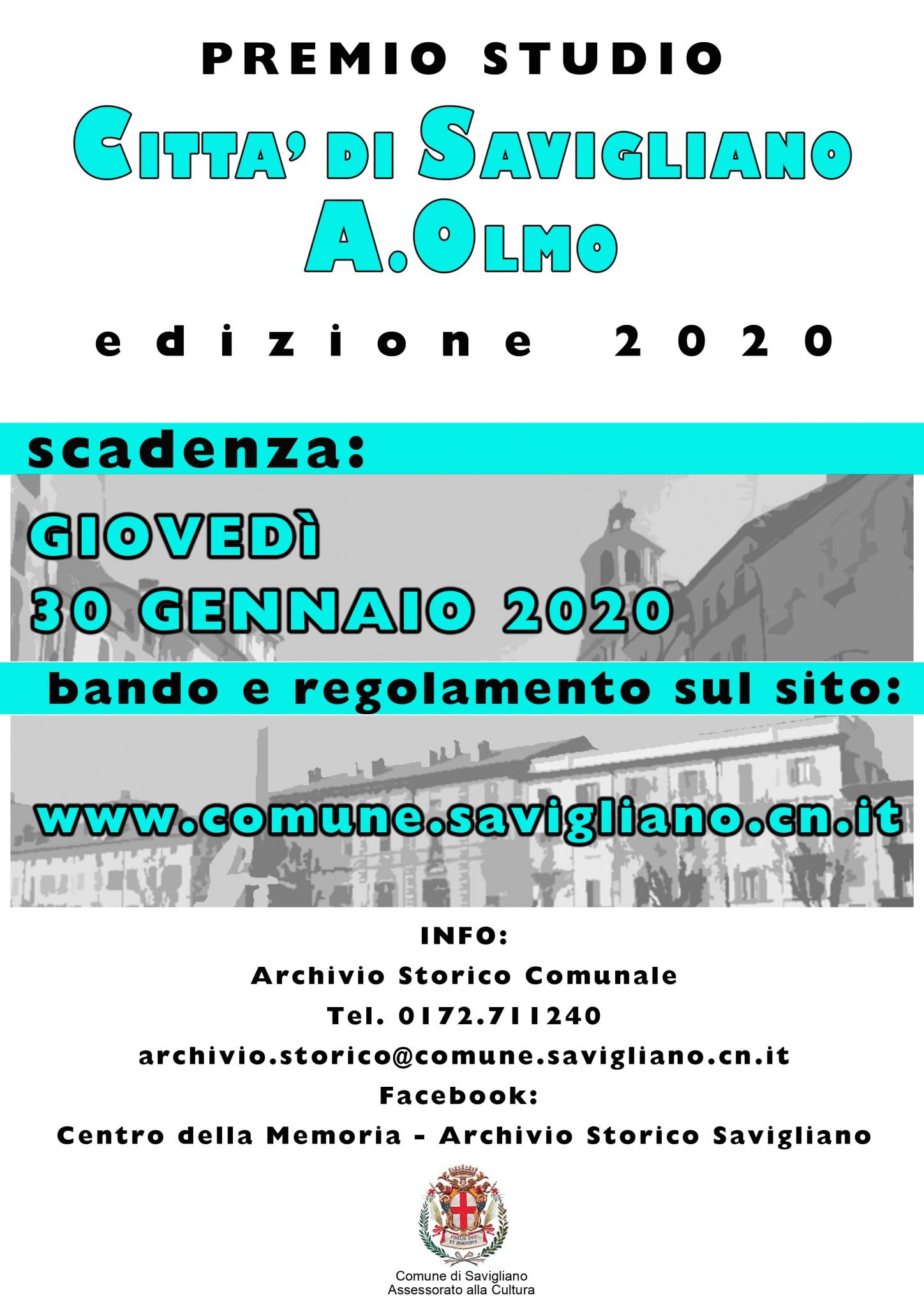 Locandina Premio Olmo 2020