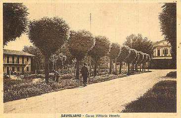L'ultimo tratto di Corso Vittorio Veneto a Savigliano nel 1929