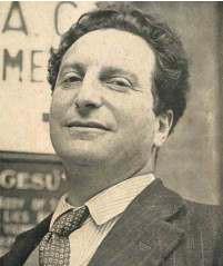 Ritratto di Carlo Levi in visita a Savigliano nel 1956.